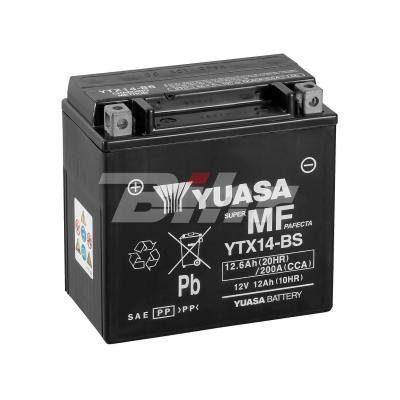 YUASA – Batería YTX14-BS Combipack