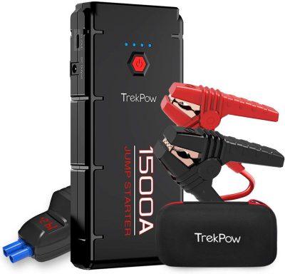 ABOX TrekPow Arrancador de Baterías de Coche G22, 1500A Arrancador de Coches con USB de 3.0