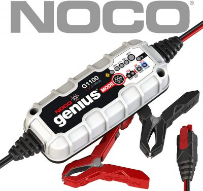 NOCO Genius G1100EU 6V / 12V 1.1 Amp UltraSafe Smart Cargador de Batería y Mantenedor