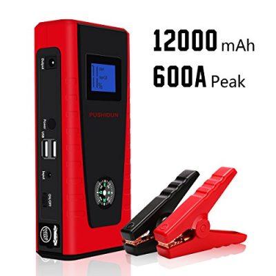 Arrancador de Coche 12000mAh 600A Jump Starter Profesional Emergencia Bateria Kit Arranque para 12V 4.0L