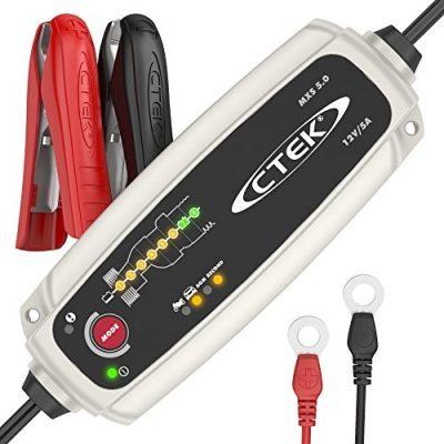 CTEK MXS 5.0 Cargador de Batería Totalmente Automático (Carga, Mantiene y Reacondiciona las Baterías de Coche y Moto)